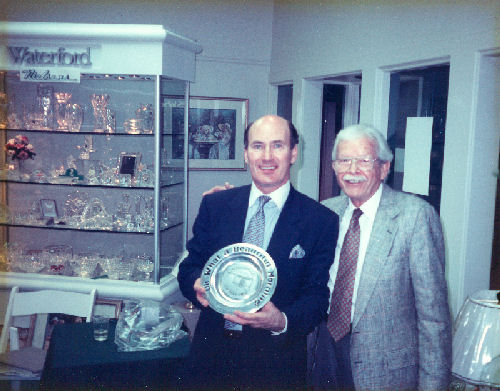 Arthur Nielsen with Jim O'Leary, Chief Designer Waterford Crystal